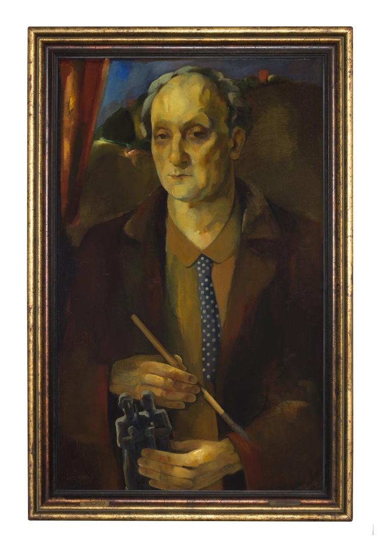 Zelfportret met beeldje
