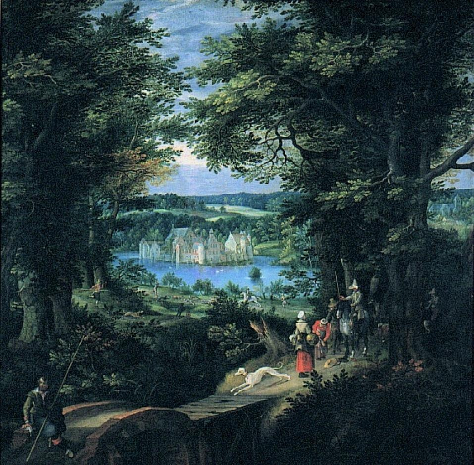 Landscape with Castle of Tervuren and Hunting Scene