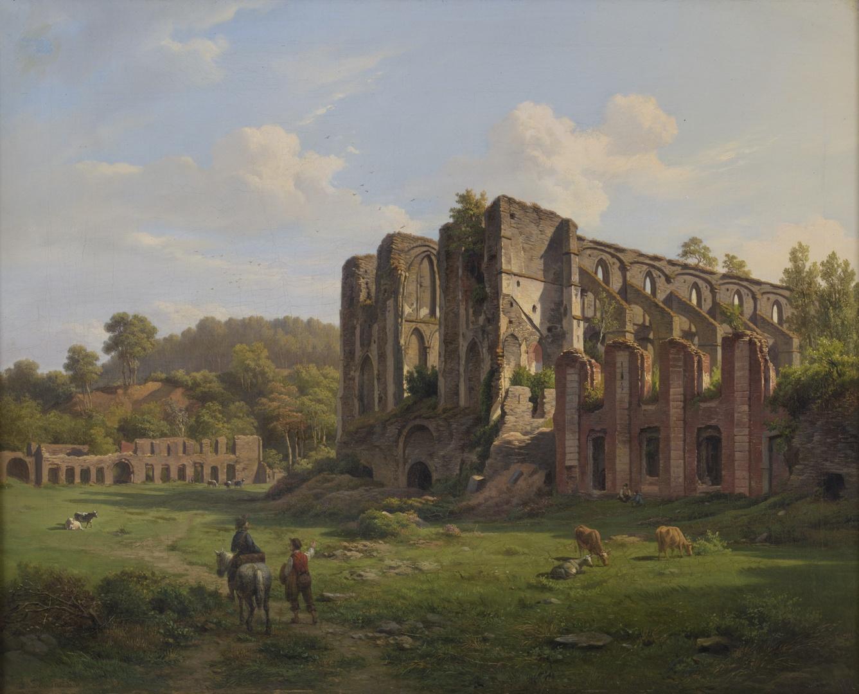 Landschap met de ruïne van de abdij van Villers