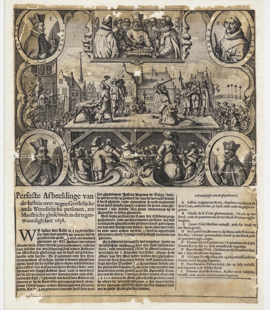 Terechtstelling der beklaagden inzake het Verraad van Maastricht in 1638