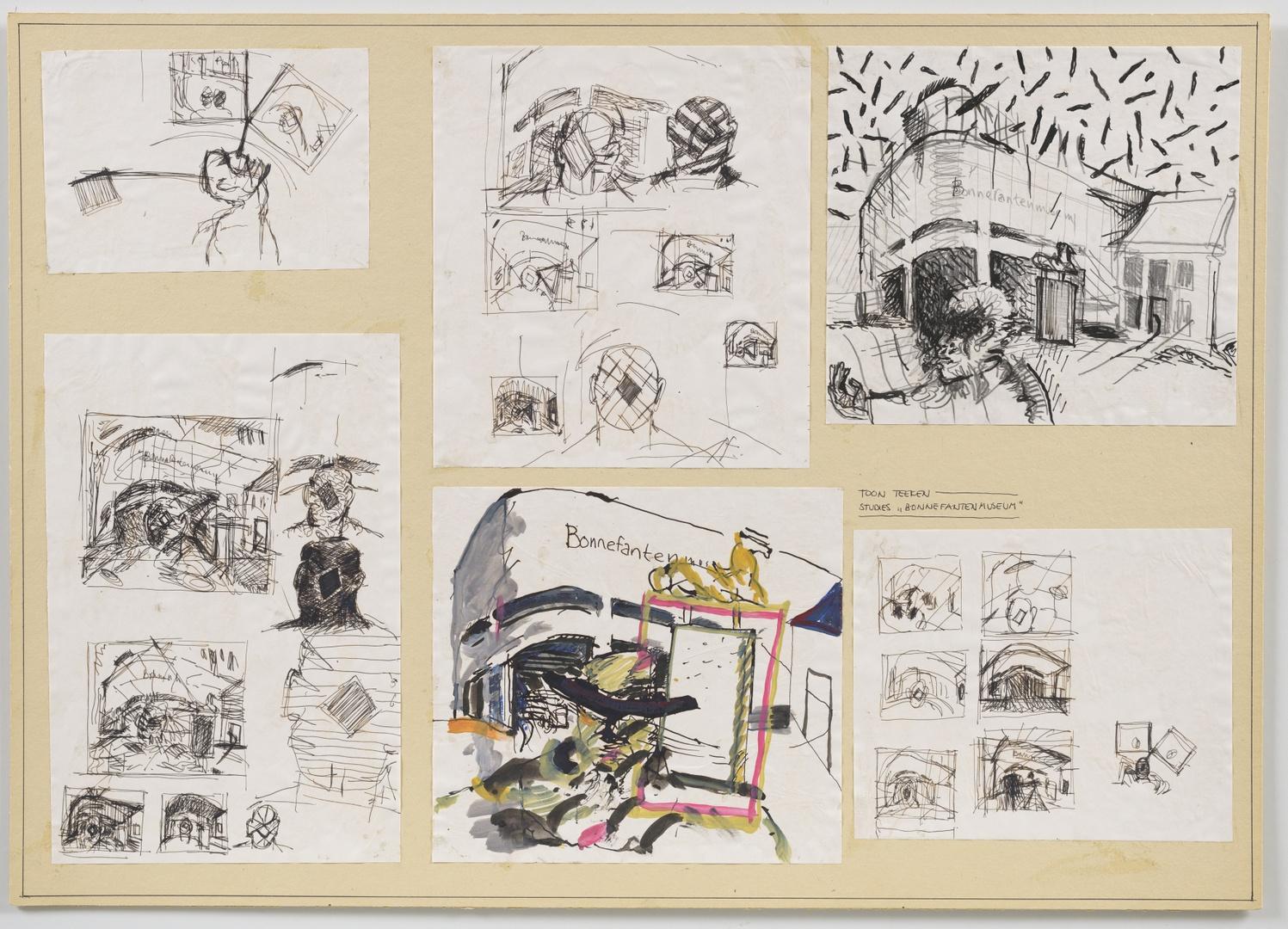 """Studies voor """"Bonnefantenmuseum"""""""