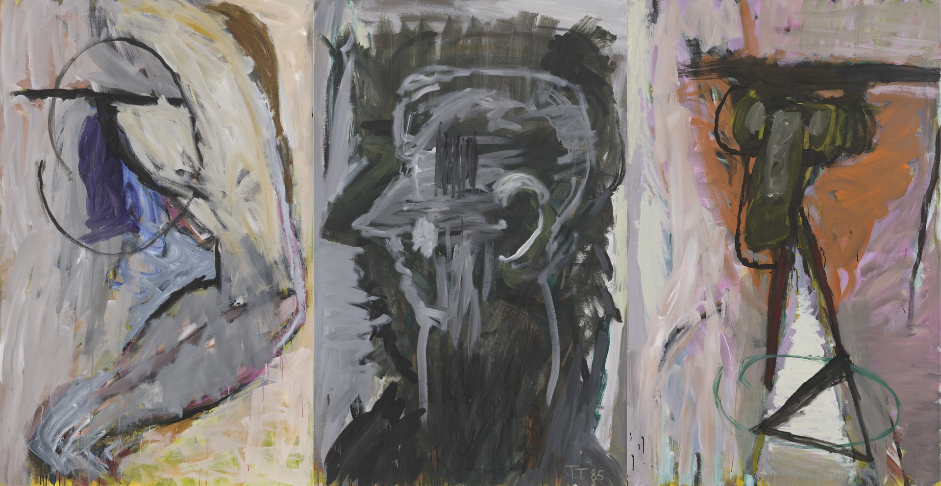 Man, indachtig II (drieluik)