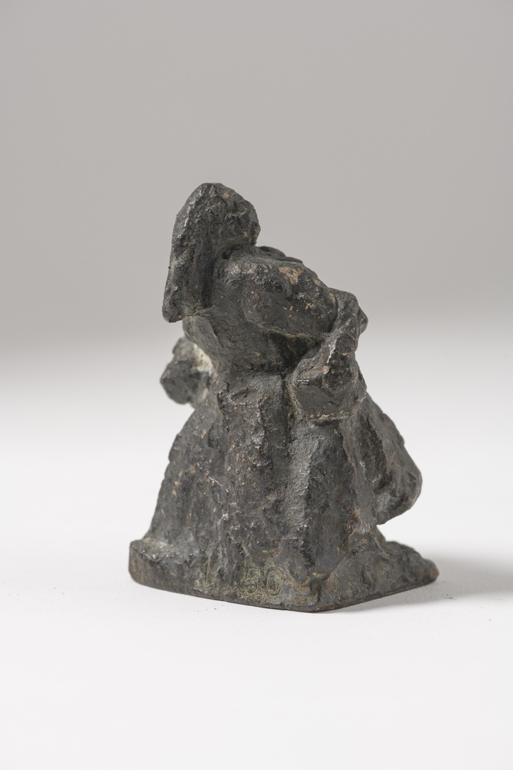 """Ontwerp voor het """"mooswief"""" gietsel door P. Sijen Beek L. ter gelegenheid van 100 jarig jubileumviering Bonnefantenmuseum"""