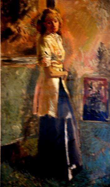 Portret van Mw.W. (Mary Hoogland eerste vrouw van Alphons Winters)
