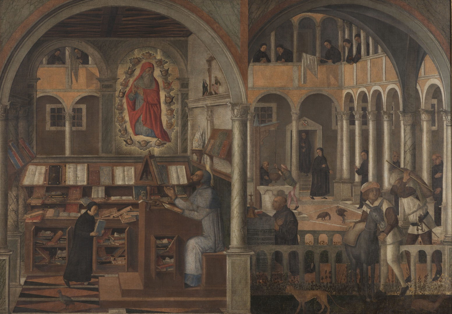 St. Jerome appearing to St. Augustine and the Discovery of Flour in St. Benedict's Monastery