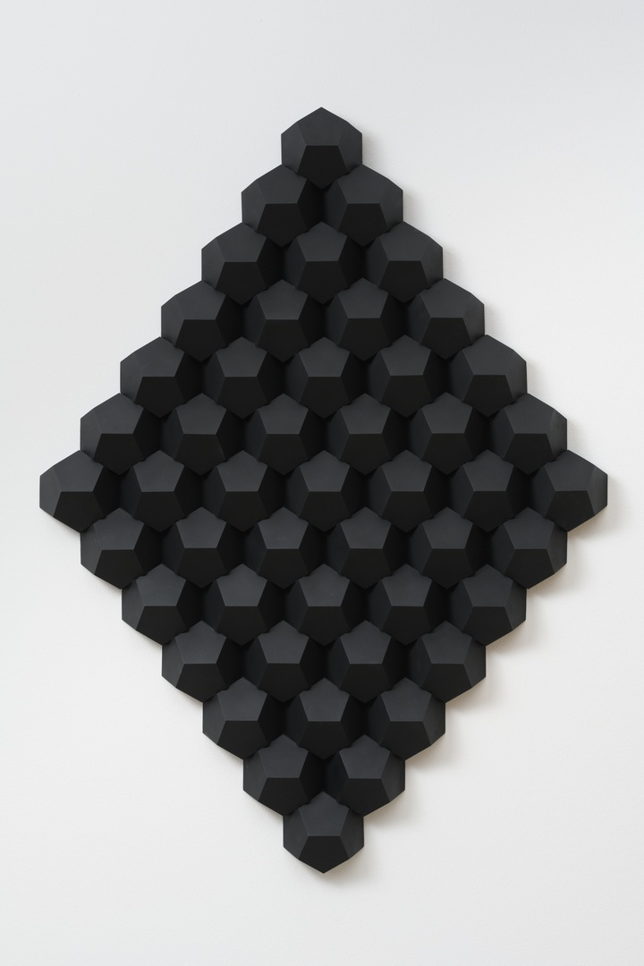 Reliëfstructuur, zwart 1I - 1Z
