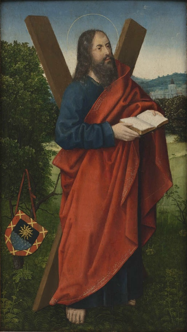 St. Andrew in a landscape