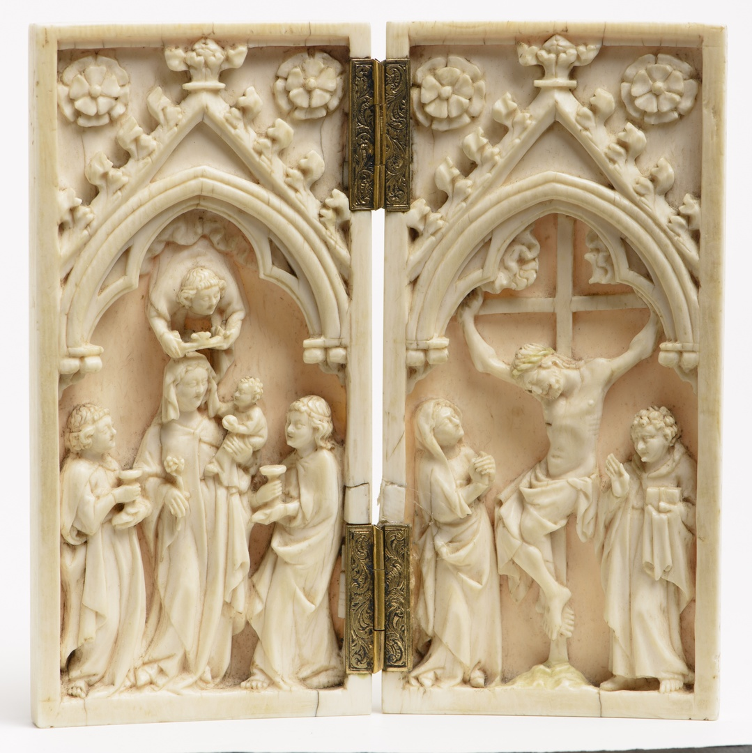 Diptych with Madonna (left) and Crucifixion (right)