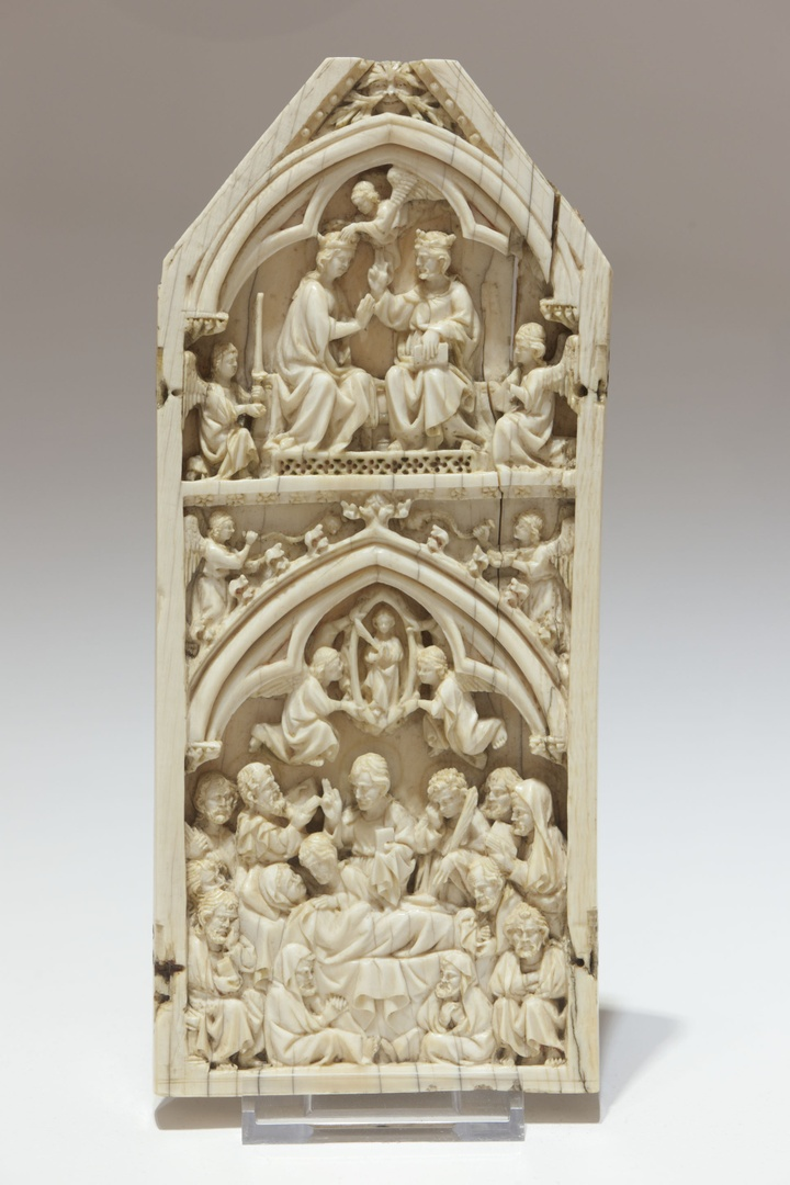 Death-bed and Coronation of St. Mary (part of a diptych)