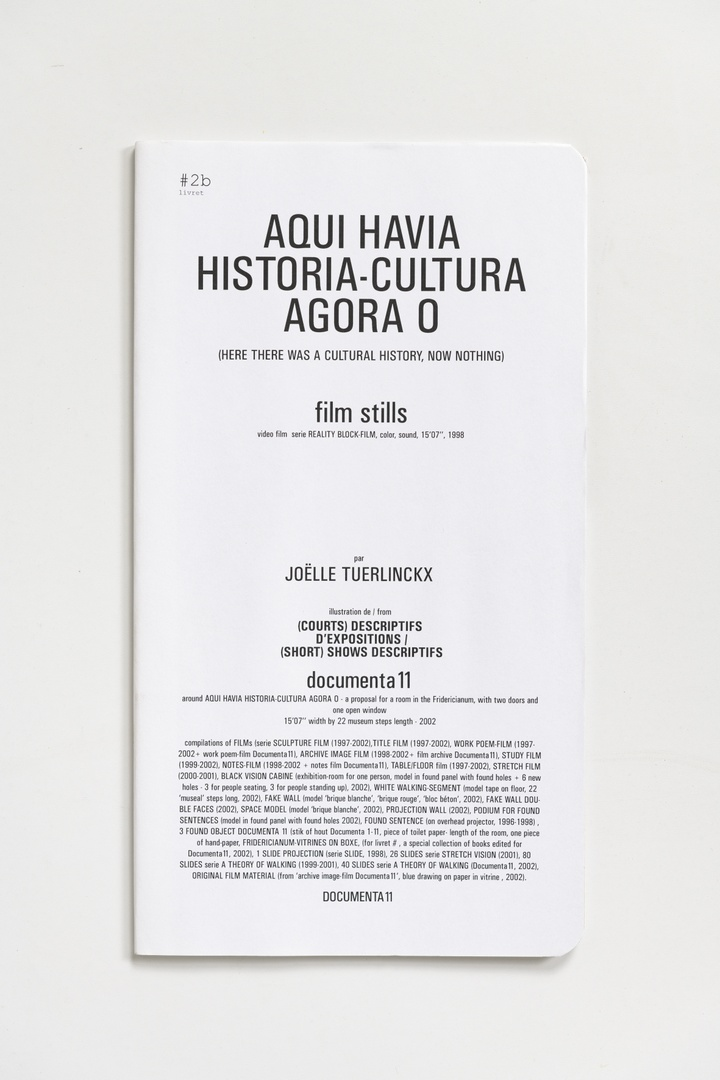 "#Livrets Documenta 11: 2b - Aqui Havia historia-cultura agora o (here there was a cultural history, now nothing) film stills video film series Reality Block-Film, color sound, 15'07""1998"