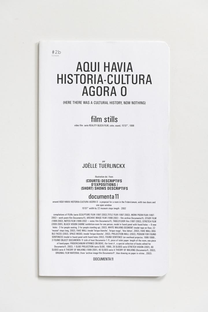 "#Livrets Documenta 11: 2b - Aqui Havia historia-cultura agora o (here there was a cultural history, now nothing) film stills video film series Reality Block-Film, color sound, 15'07""1998"
