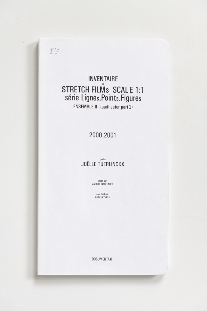 #Livrets Documenta 11: 7c - Inventaire de STRETCH FILMs SCALE 1:1 serie LIGNEs.PINTs.FIGUREs ensemble II (kaaitheater part 2)