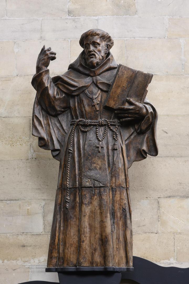 Kniestuk in vrij vlak relief H.Franciscus
