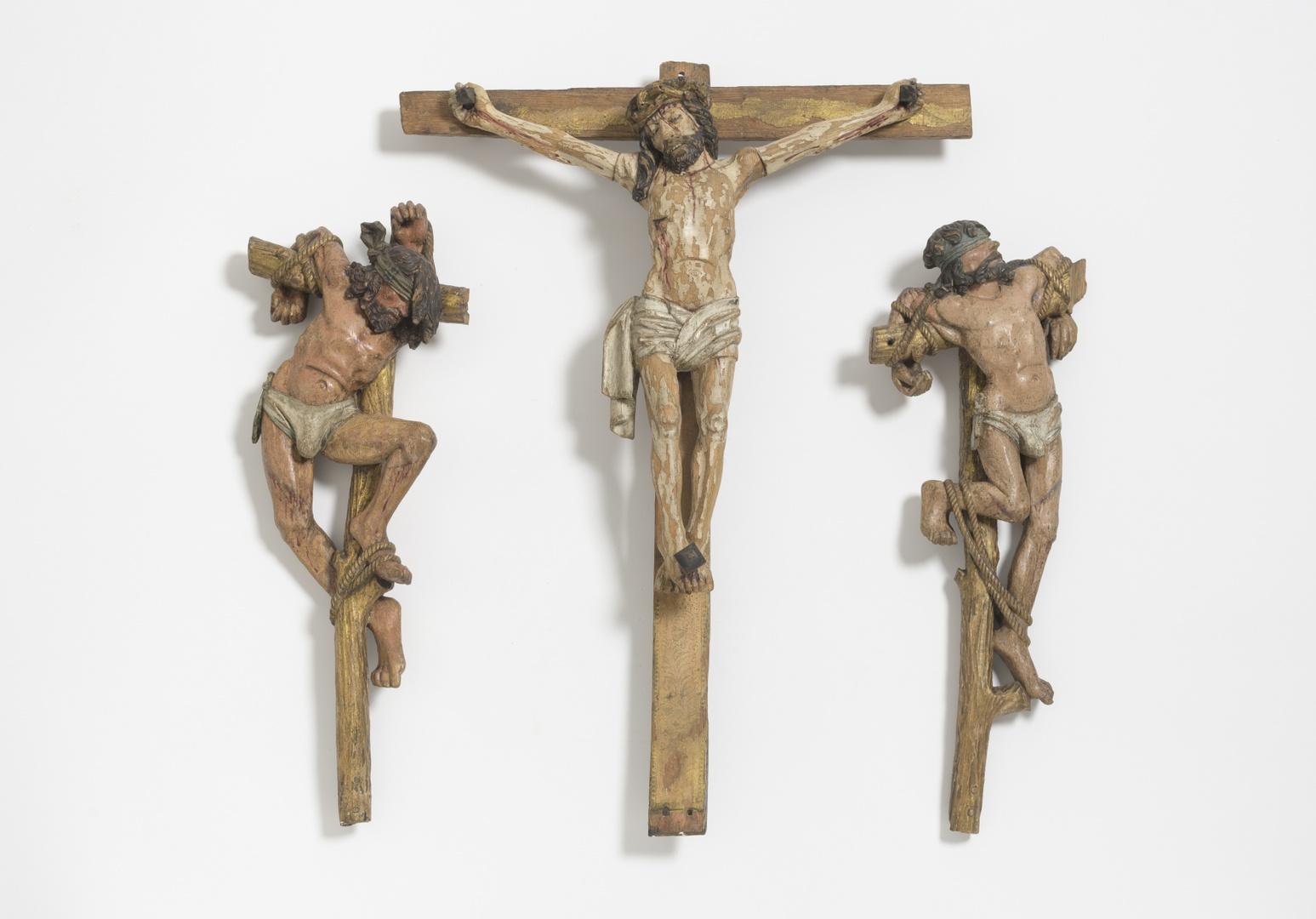 Christus aan het kruis tussen de beide moordenaars
