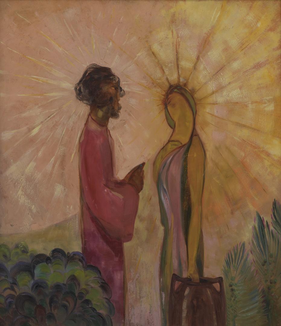 """Christus en de Samaritaanse vrouw, """"et nunc quem habes, non est tuus vir"""""""