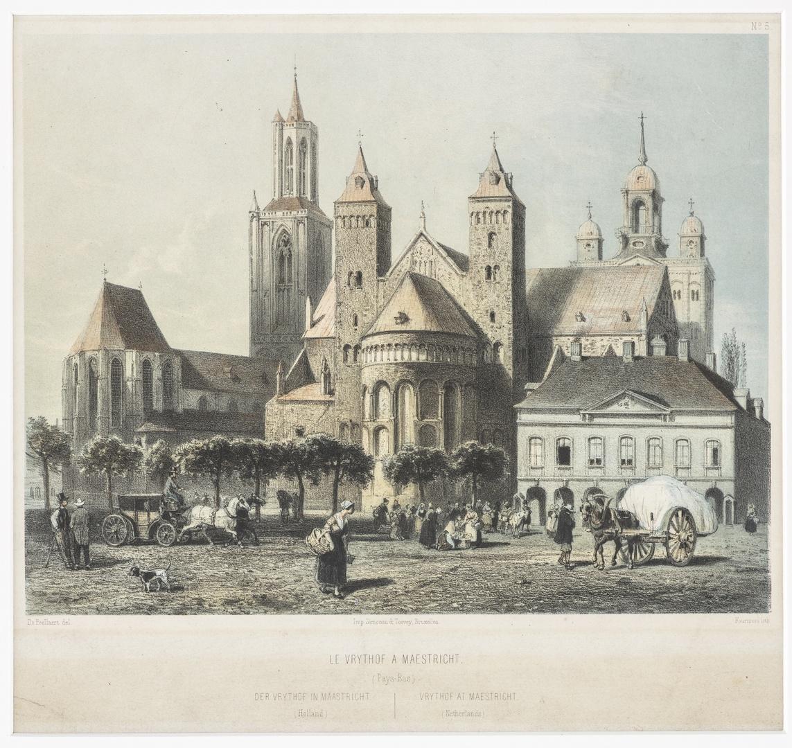 Gezicht op het Vrijthof te Maastricht