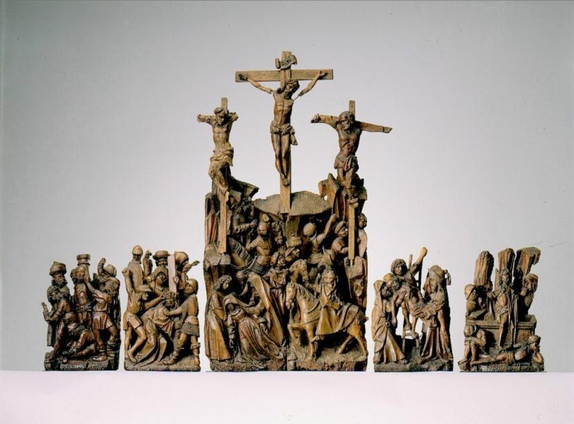 Retabelgroepen met de Passie van Christus