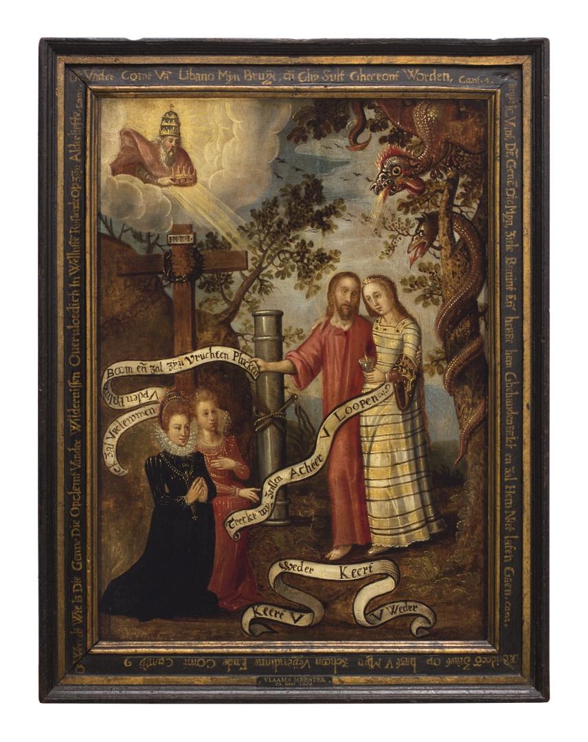 Religieus allegorische voorstelling