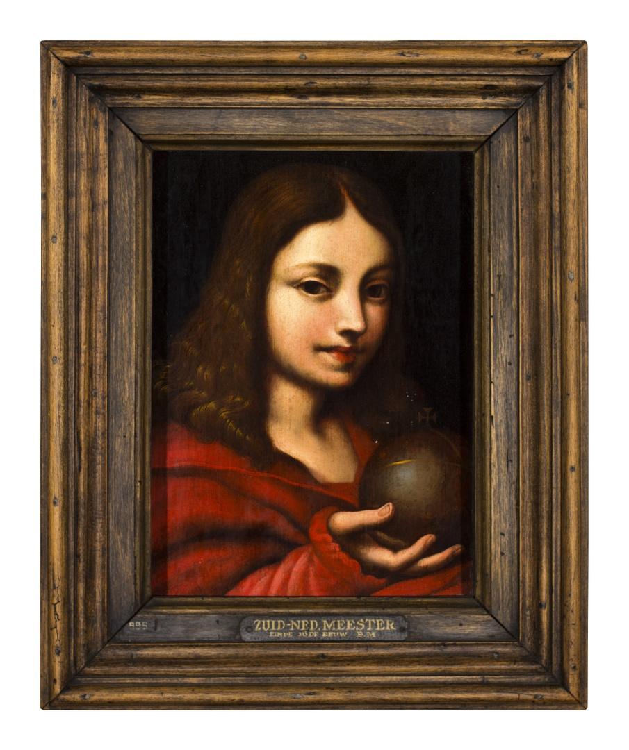 Christus als knaap met rijksappel