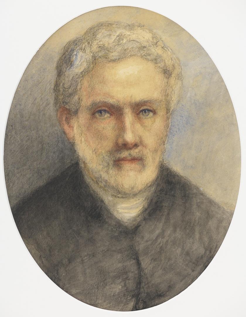 Portret van zijn broer J.Arnaud Schaepkens (1816-1904), etser, graveur en schrijver over archeologie en kunst te Maastricht