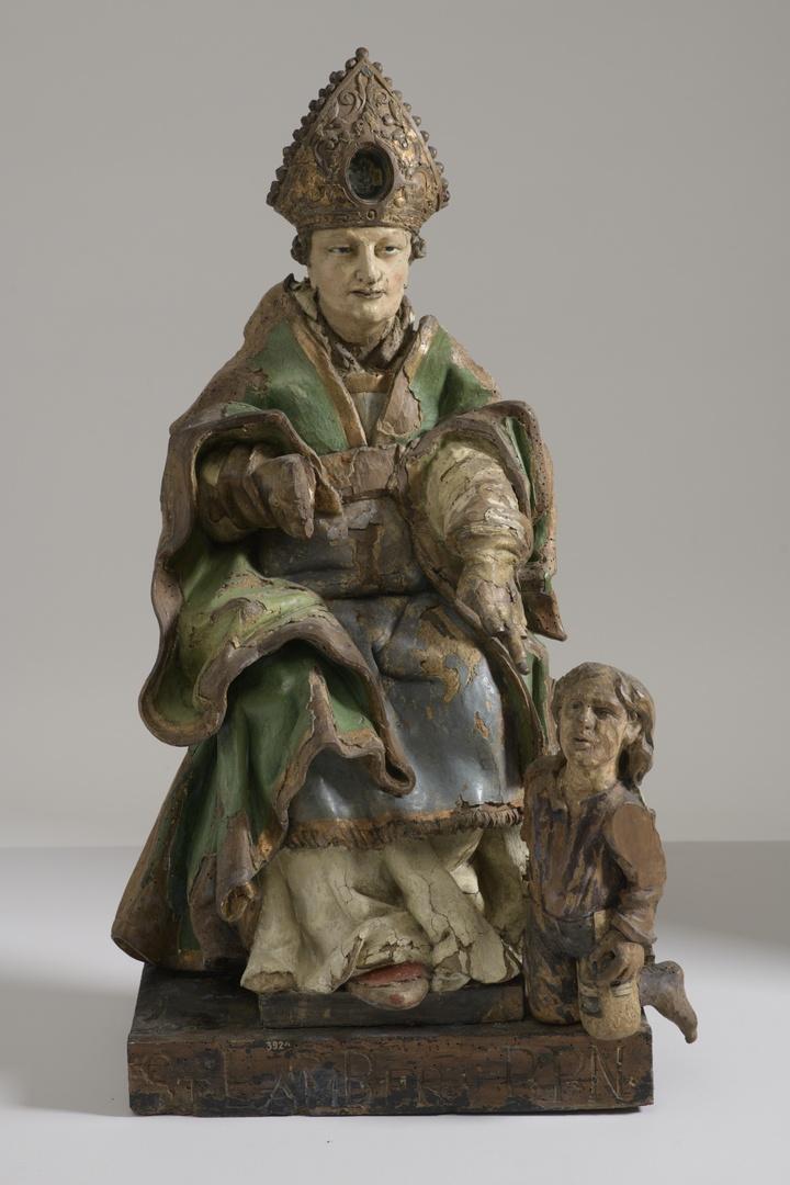 H. Bisschop vermoedelijk in H.Martinus veranderd, met kreupel 'jongetje'  aan zijn voeten