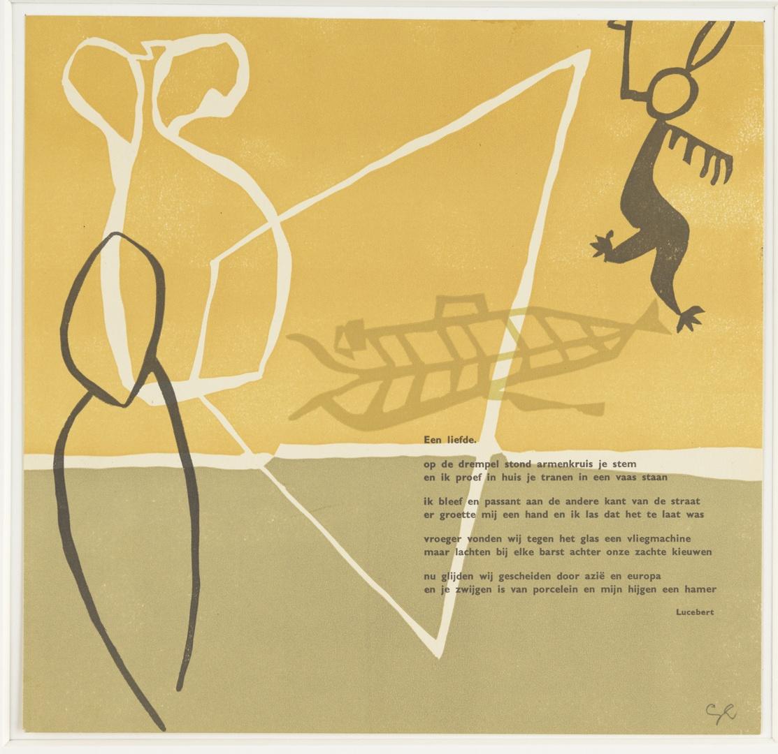 """Illustratie bij het vers """"Een liefde"""" van Lucebert"""