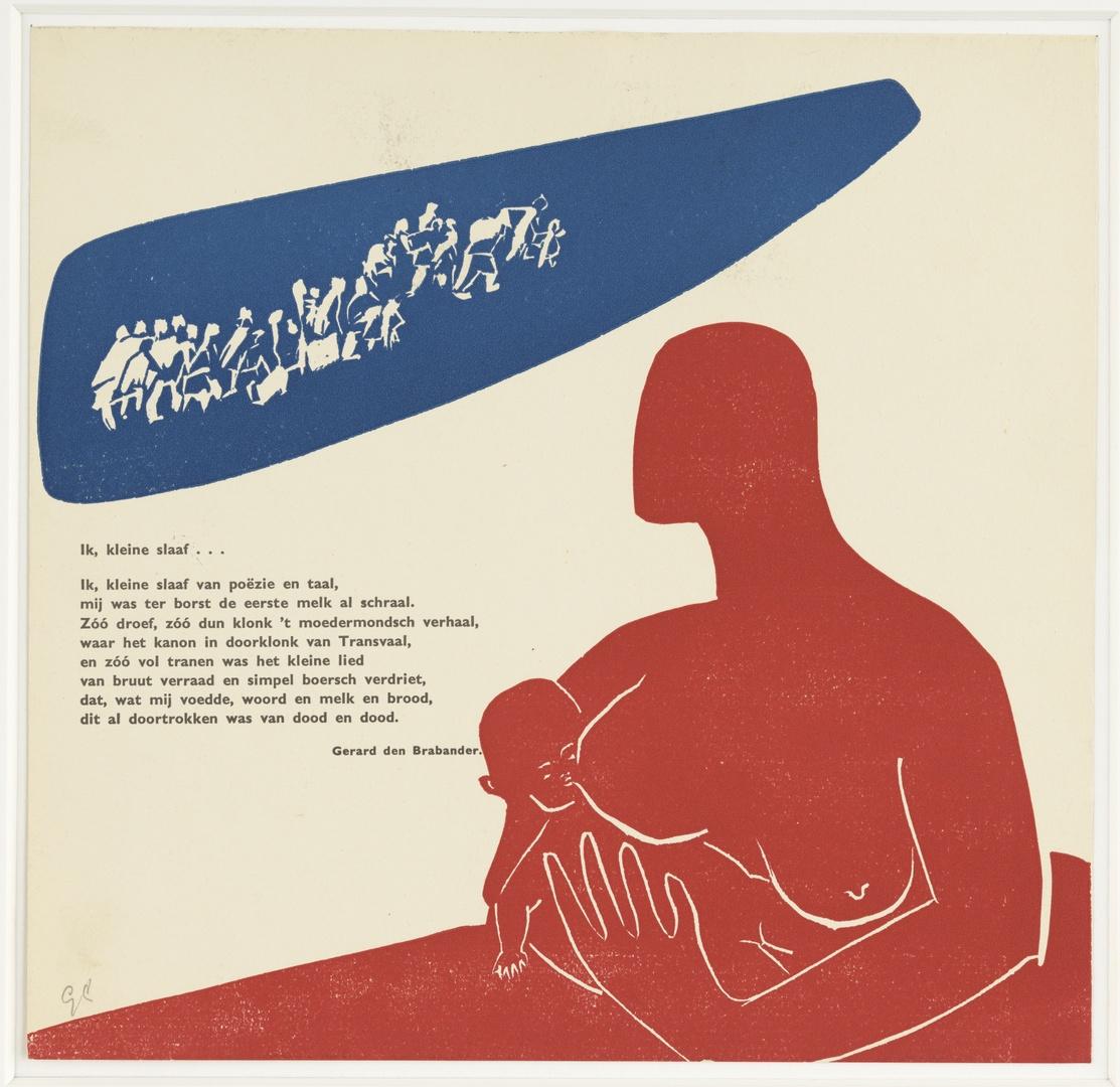 """Illustratie bij het vers """"ik kleine slaaf....."""" van Gerard den Brabander"""