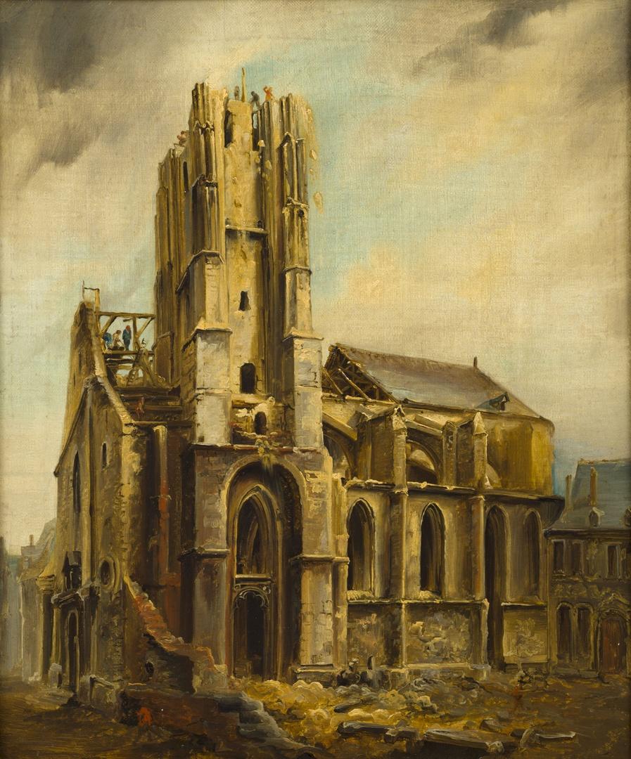 Sint-Nicolaaskerk te Maastricht tijdens de afbraak in 1838