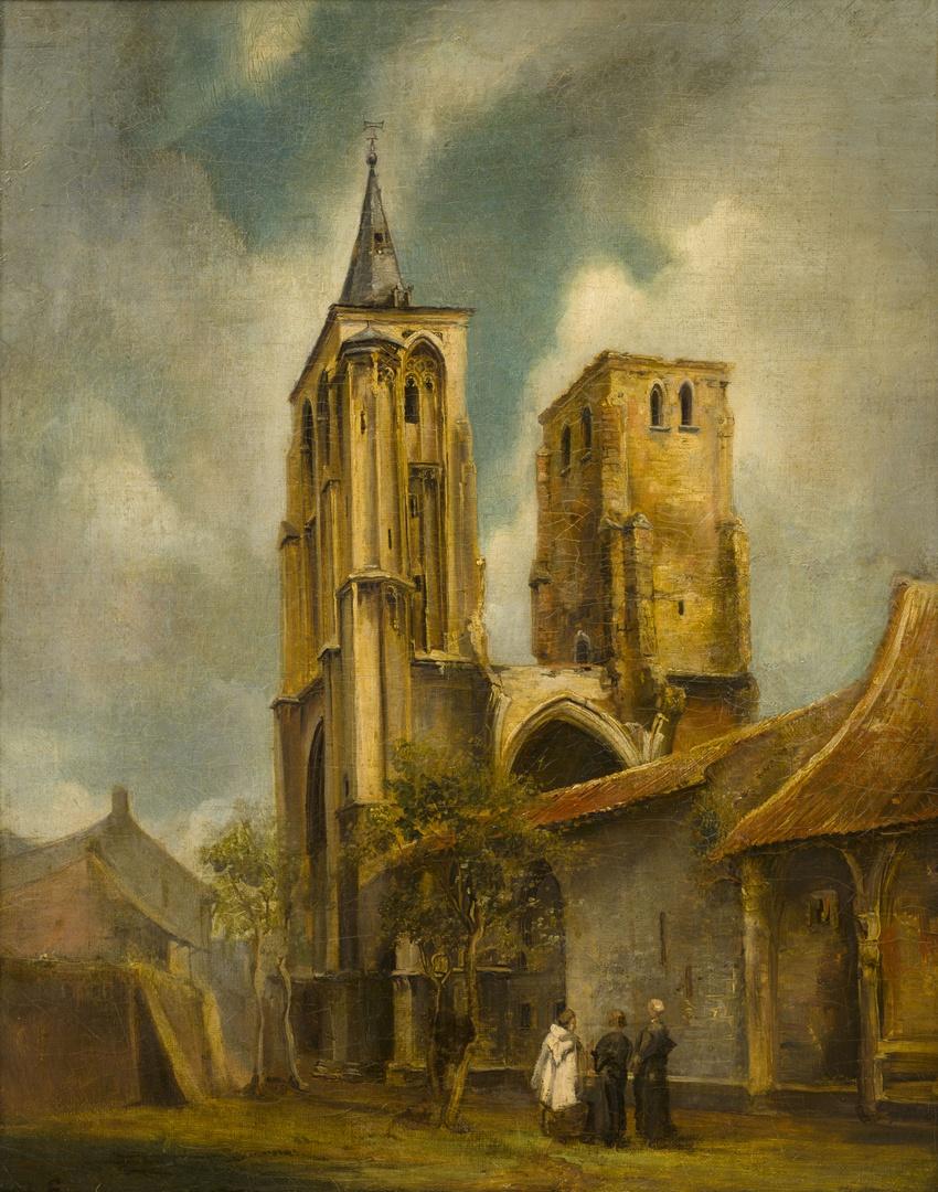De torens van de kerk van het St.Antoniusklooster te Maastricht