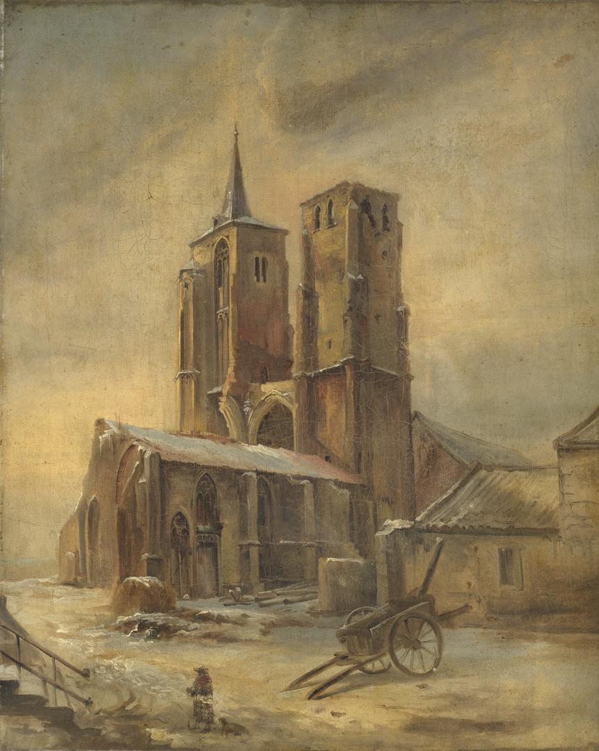 De ruïnes van de kerk van het St.Antoniusklooster te Maastricht