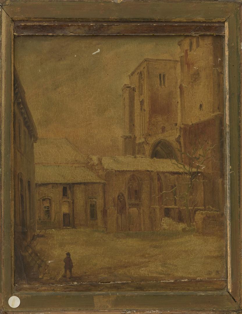 Kerk en klooster van St.Antonius Abt te Maastricht, afgebroken 1848