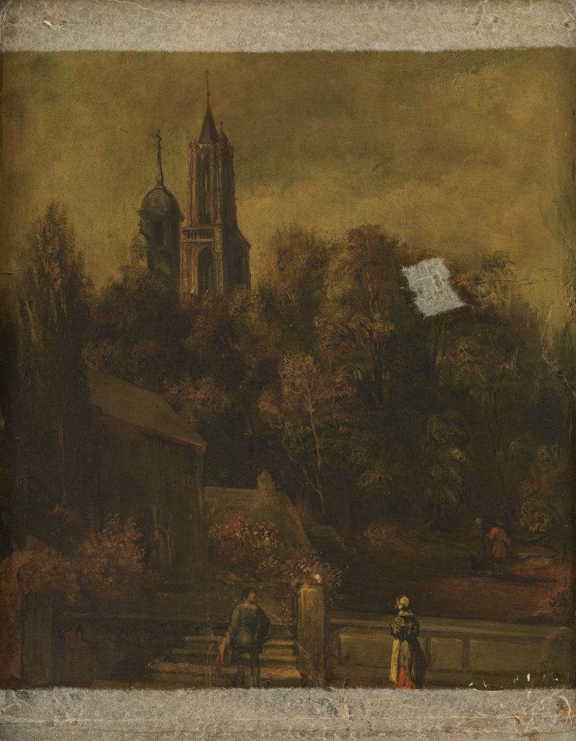 Achterhuis met tuin van het huis van schepen Panhuys, gelegen aan de Lenculenstraat 670, (thans nr.16) te Maastricht