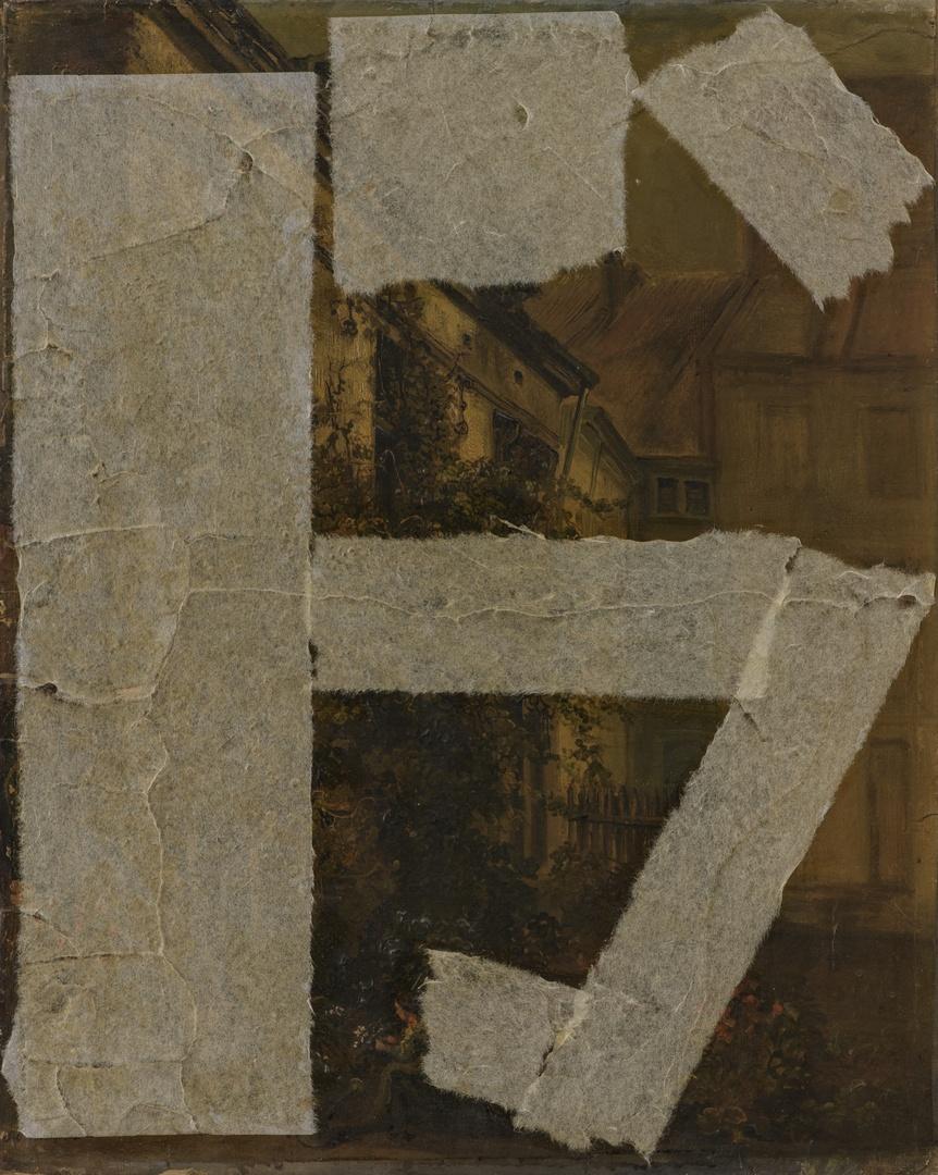 """Binnenplaats van het ouderlijk huis van de kunstenaar, genaamd """"In 't draekenveld"""" Grote Staat"""