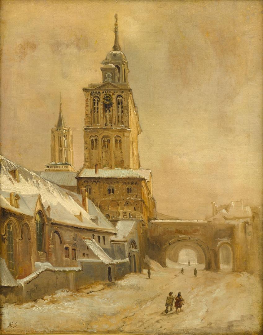 De westbouw van de Sint-Servaaskerk en het klooster