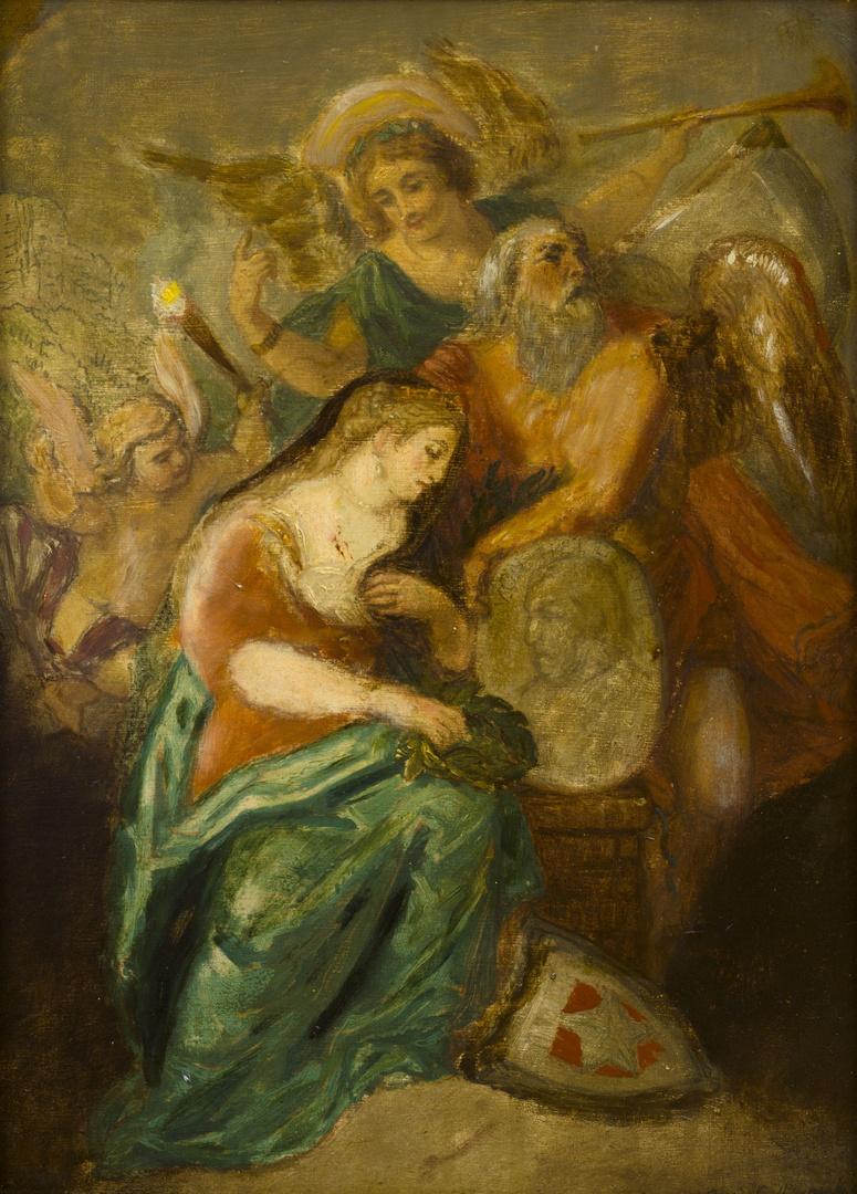 Allegorie op de dood van Martinus Johannes van Heylerhoff 1776-1854, historicus