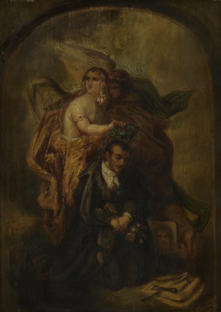 Allegorie op de dood van André H. van Hasselt 1805-1874, dichter en letterkundige