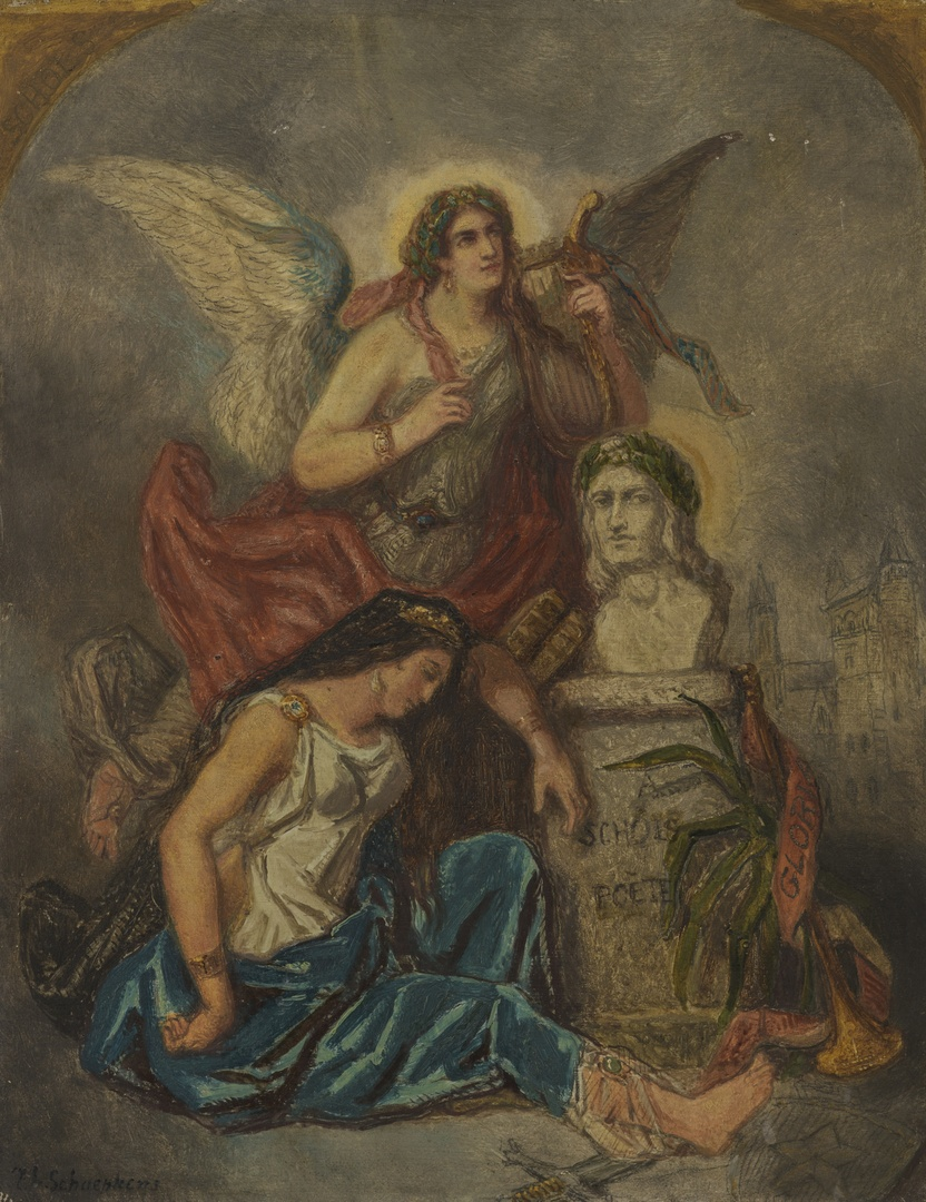 Allegorie op de dood van Petrus E. Schols 1768-1847, dichter en letterkundige