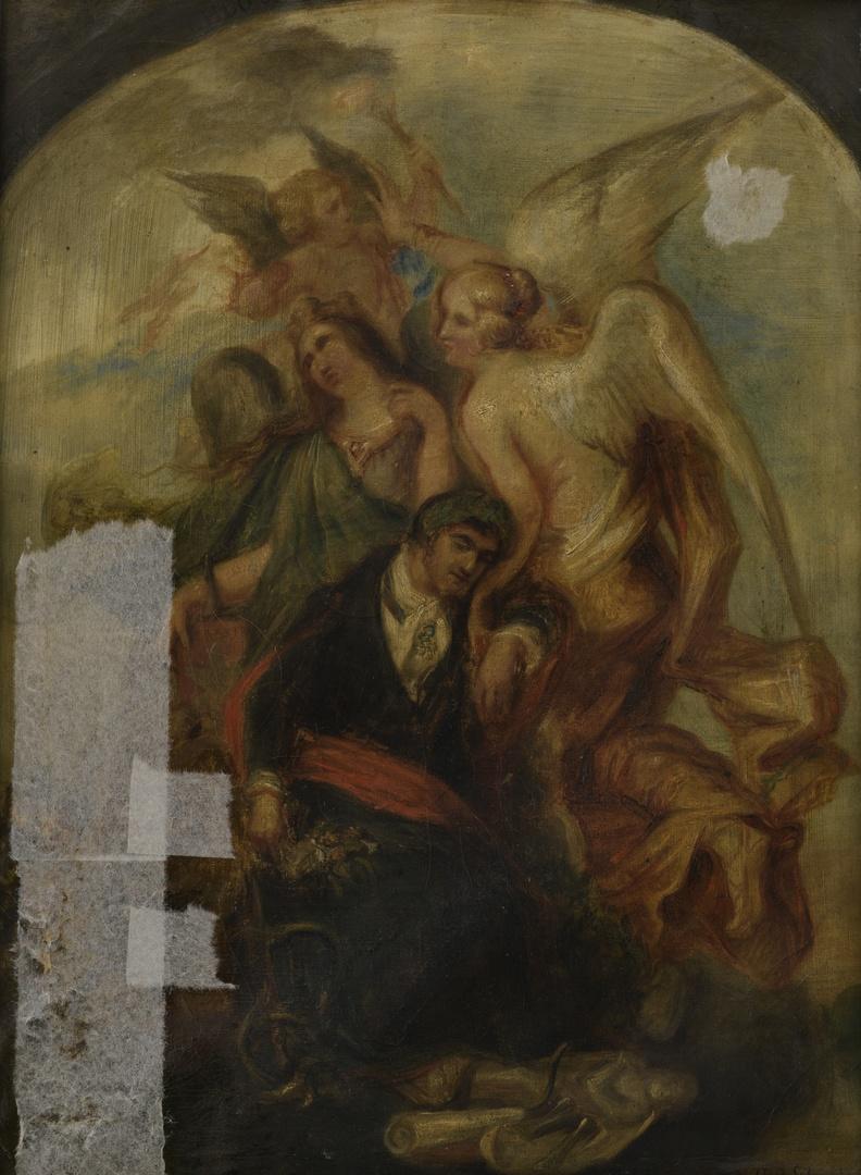 Allegorie op de dood van Mathias Kessels 1784-1836, beeldhouwer