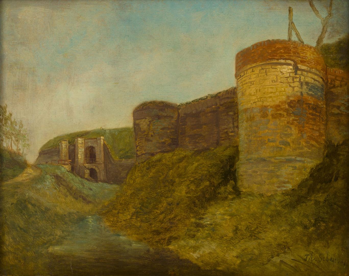 Stadswal met bastions nabij de Brusselsepoort