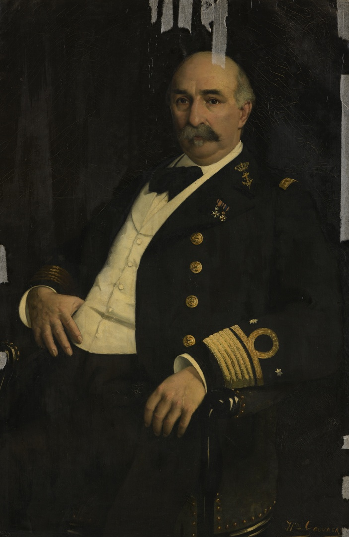 Portret van vice-admiraal Charles Henri Bogaert 1835-1892