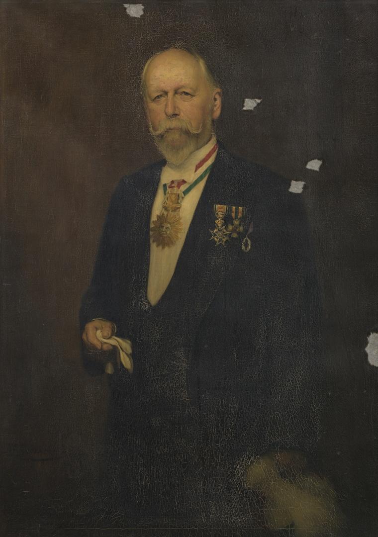 Portret van Joseph Laurent Hubert Polis (1845-1915), erepresident Sociëteit Momus