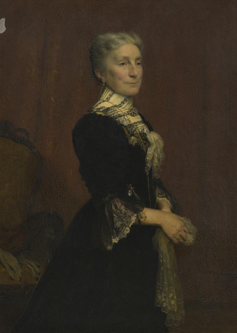 Portret van Louise Marie Laurence Polis-Henrar (1845-1935), echtgenote van Joseph L.H. Polis