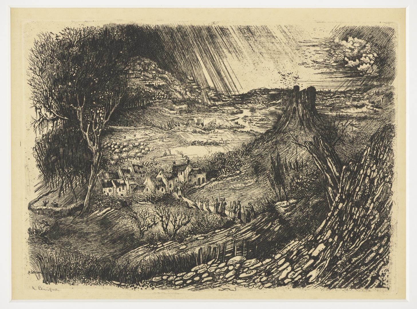 Tien melaatsen in een landschap