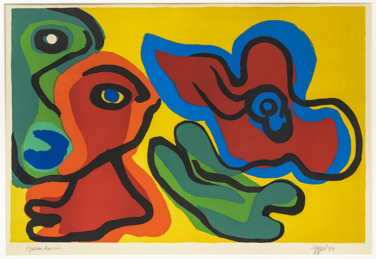Drie kleurige vormen