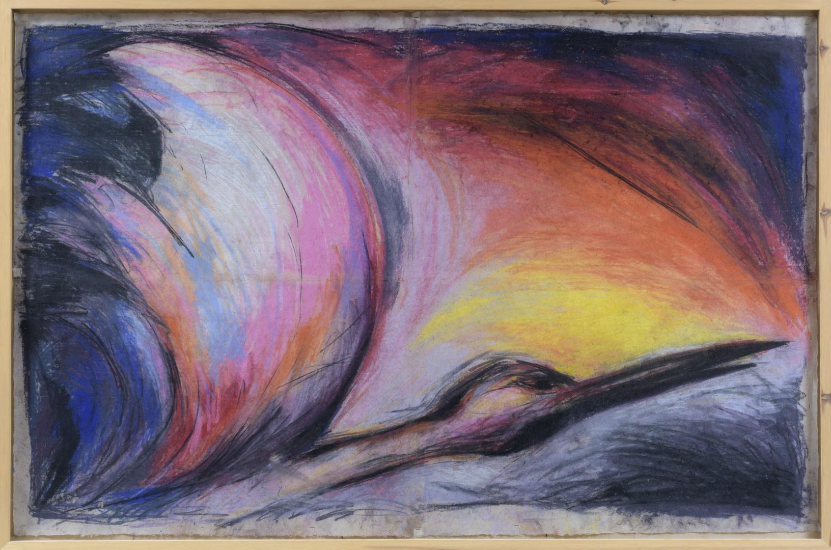 """Twee tekeningen uit serie """"vogels"""" (of:""""vier vogels vier landschappen vier vleugels wijken en wijken"""""""