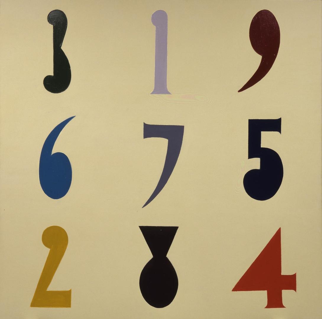 Groot cijferschilderij 1