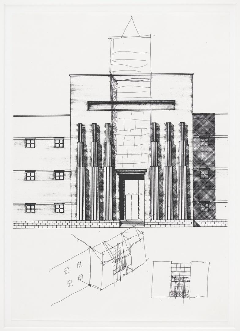 Ontwerp Bonnefantenmuseum: ontwerpschets hoofdingang