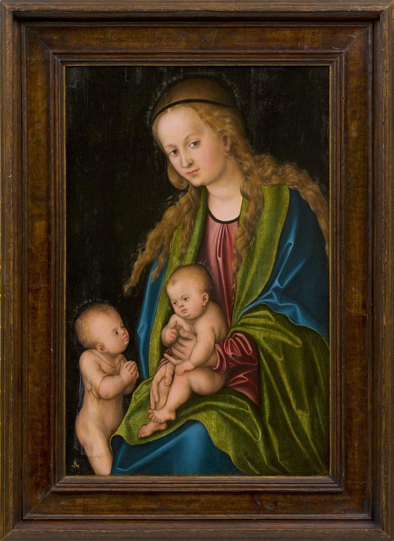 Maria met kind en de kleine Johannes de Doper