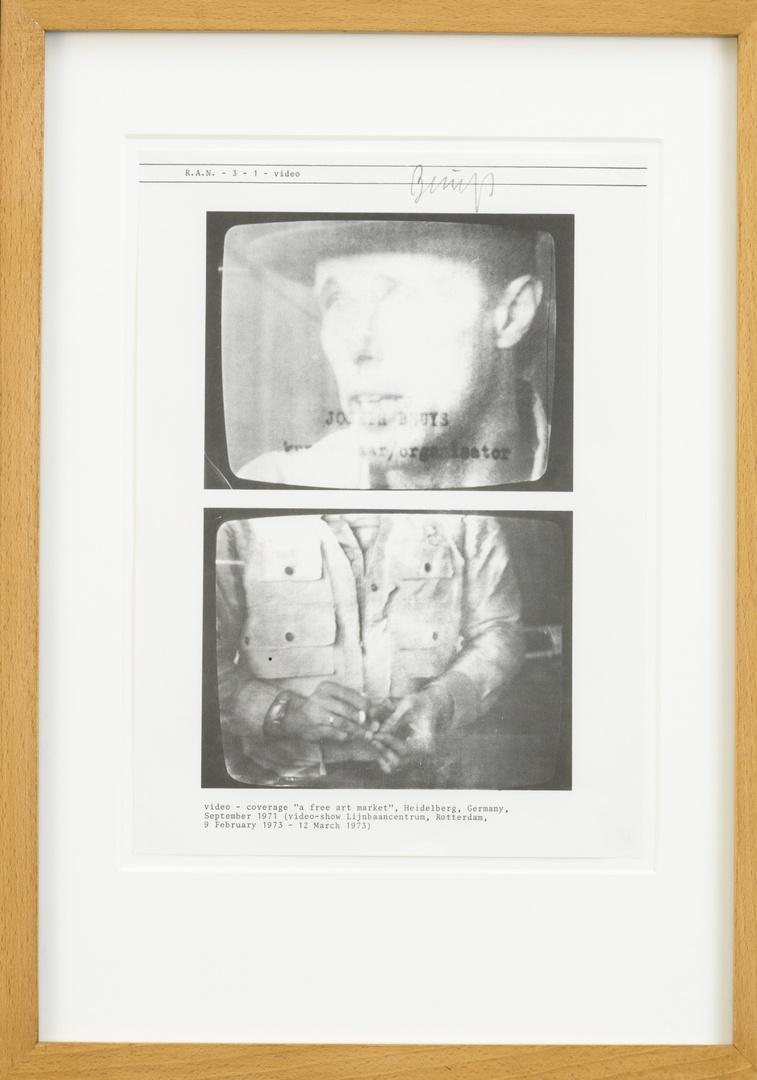 """Tentoonstellingscatalogus/Tijdschrift: """" R.A.N., no 3, blz 1:-video"""". Rotterdam, Lijnbaancentrum/Rotterdamse Kunststichting, = Rotterdam Art News, jaargang 3, blz 1, jaargang '72-'73."""