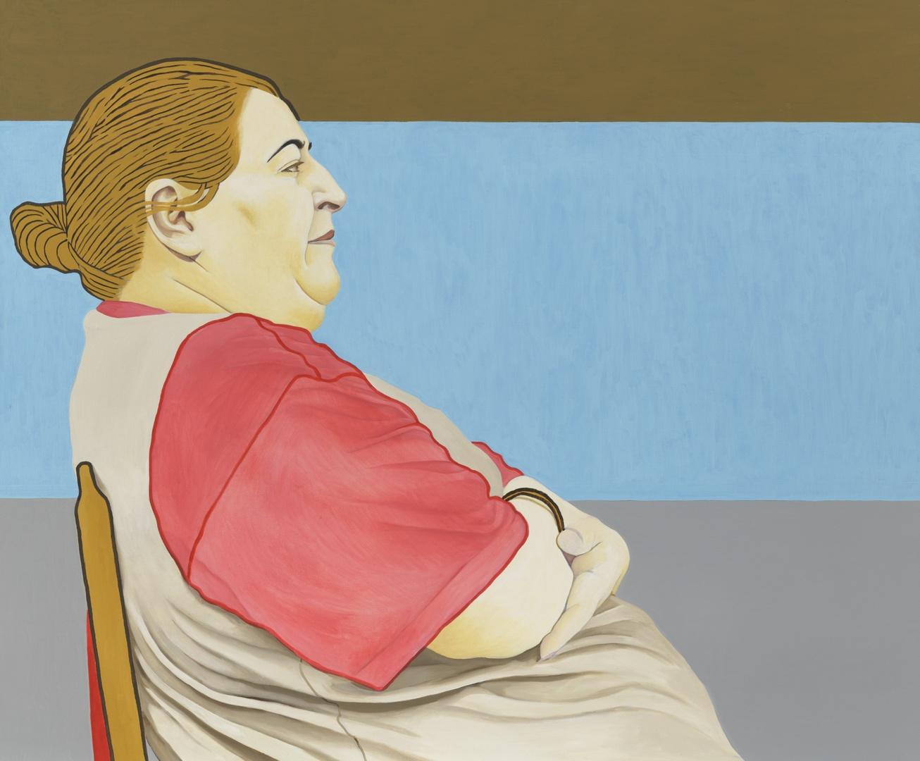 Blue Widow ; portret van Azza El Karchi